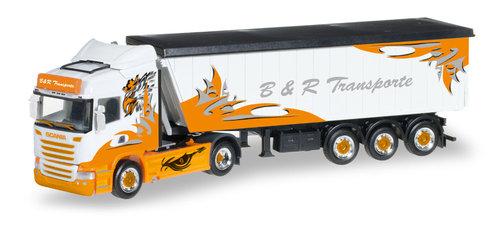 "Herpa 306287 Scania R HL Stöffelliner-Sattelzug ""B&R Transporte / Arrow Hunter"""